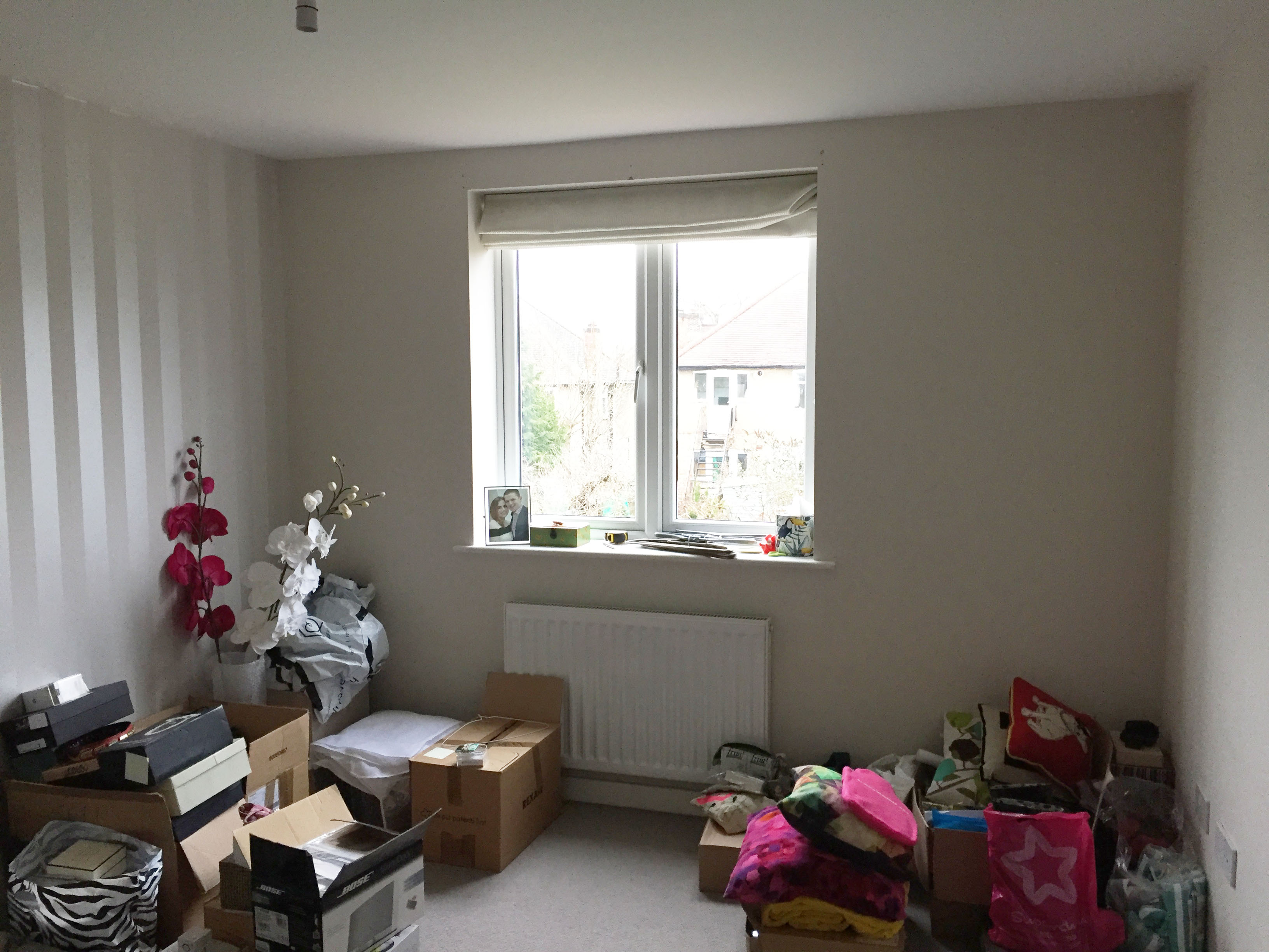 A photo of the room before the baby arrived - a spare room