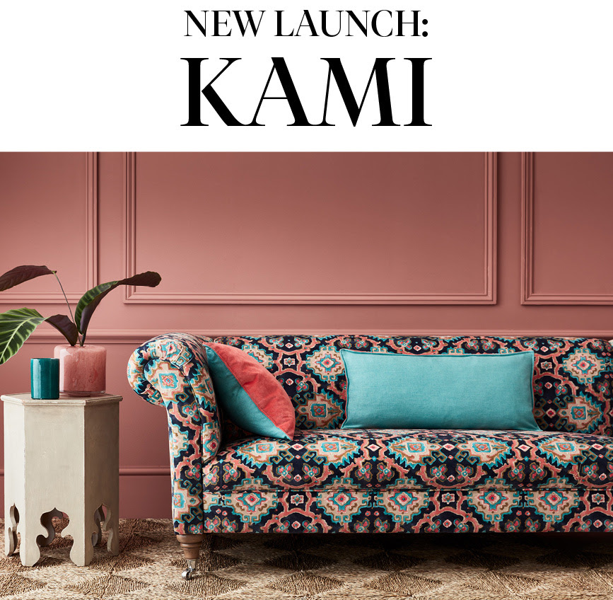 A photo of the new Kami collection from Linwood fabrics.