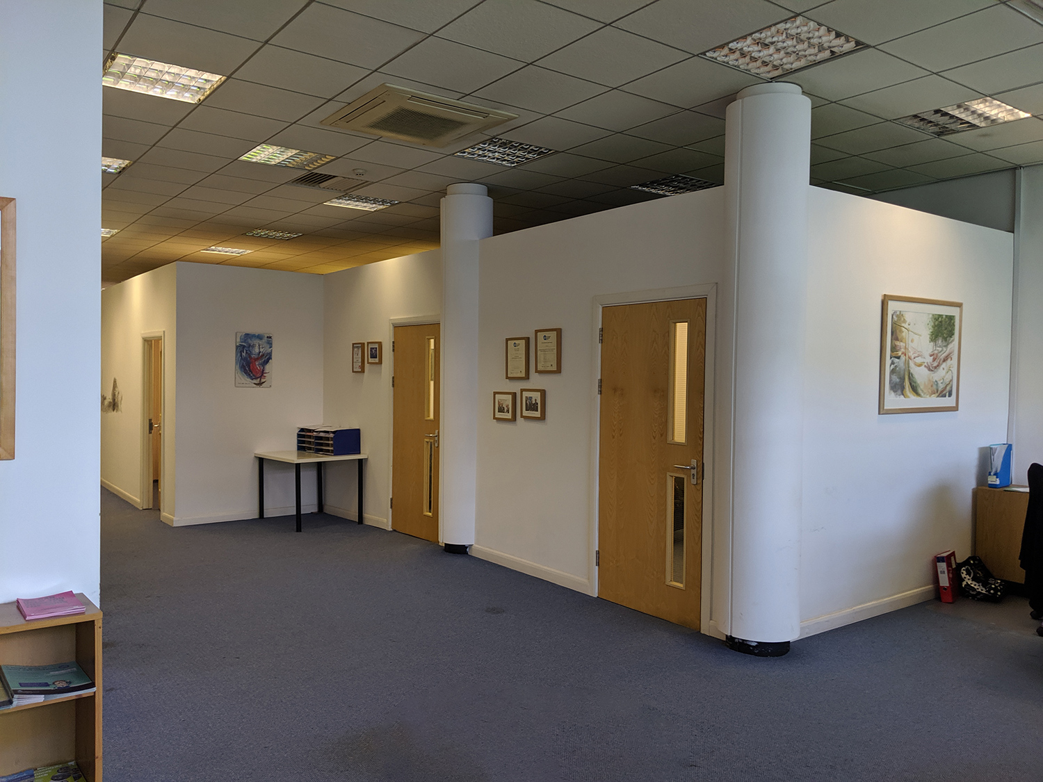 A before picture of the main reception area.