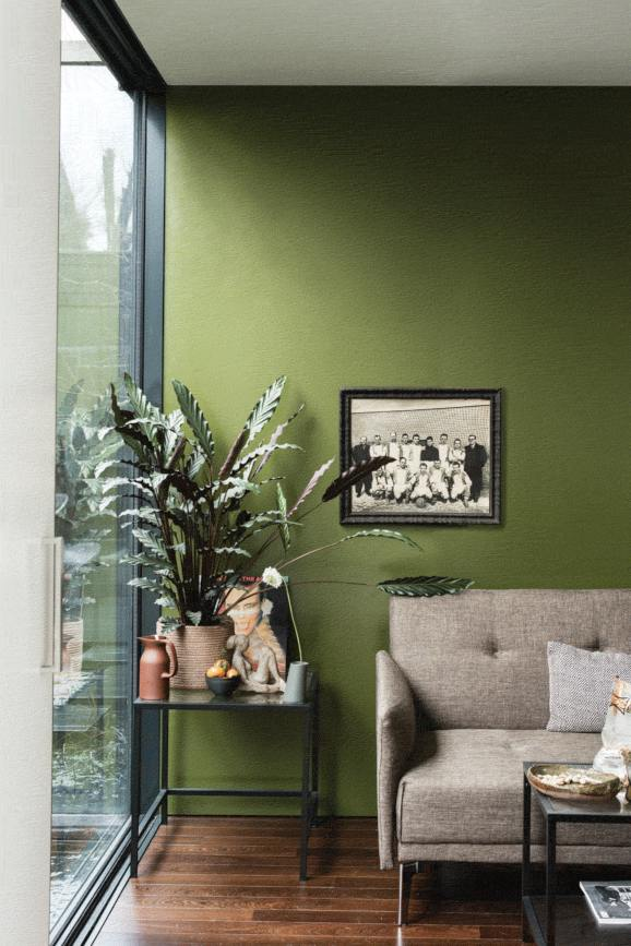 A photo from the Farrow & Ball website showing the colour Bancha.