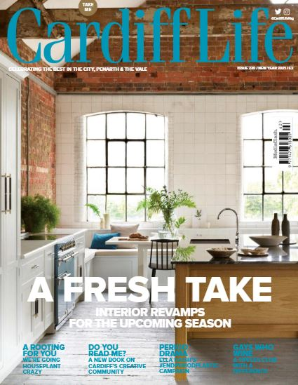 The cover of the December 2020 issue of Cardiff Life magazine.