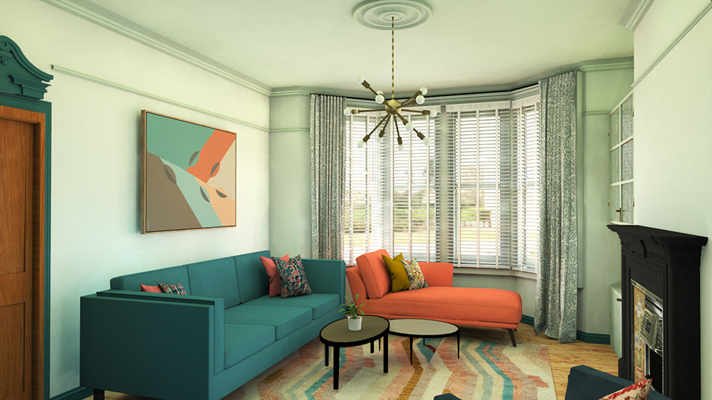 The same image as the one before, showing the same room in a light colour scheme.
