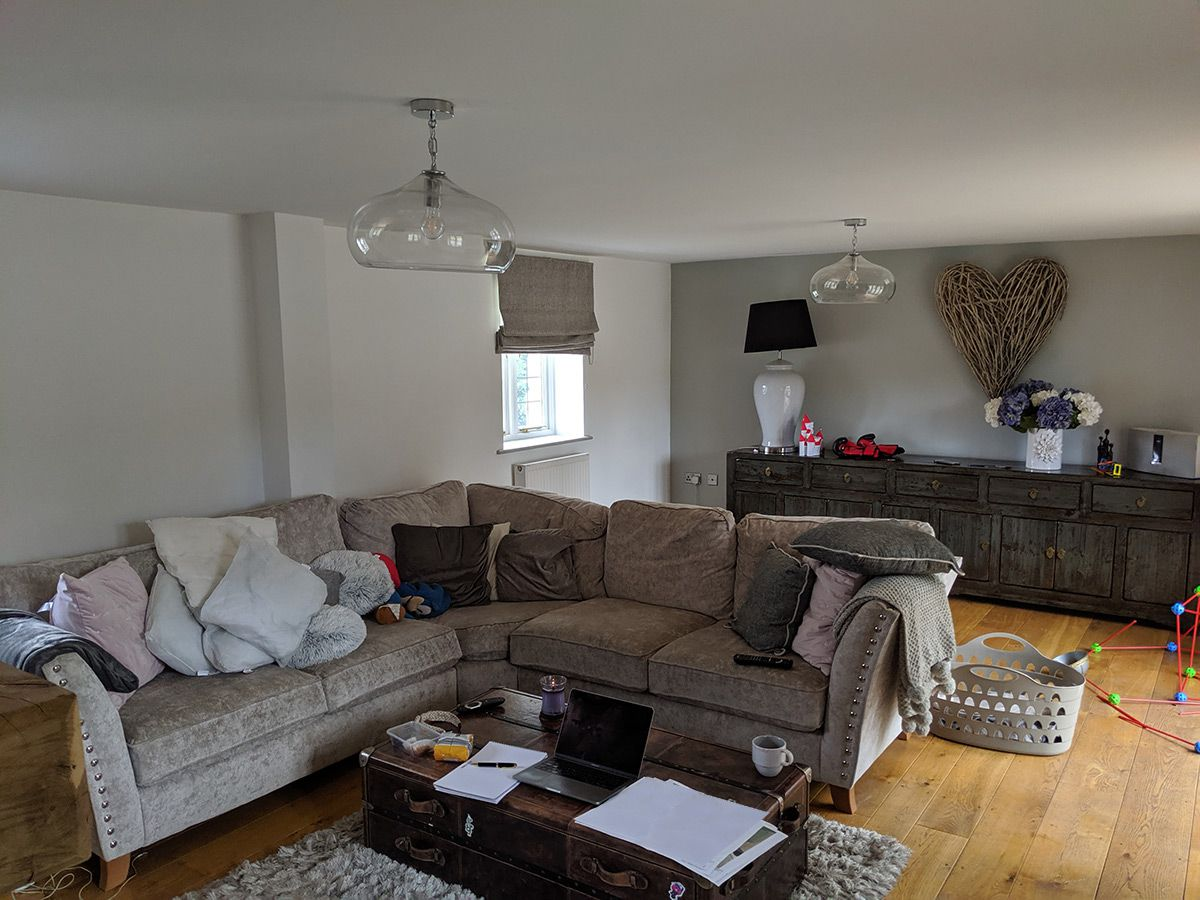 A photo of the same area before the renovation, which was the living room.